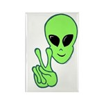 Peace Alien Rectangle Magnet (10 pack)