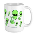 Peace Alien Large Mug