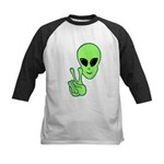 Peace Alien Kids Baseball Jersey