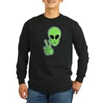Peace Alien Long Sleeve Dark T-Shirt