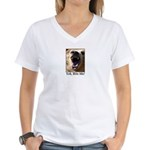 Yeh, Bite Me Women's V-Neck T-Shirt