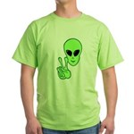 Peace Alien Green T-Shirt