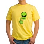 Peace Alien Yellow T-Shirt