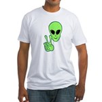 Peace Alien Fitted T-Shirt