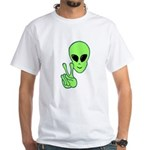 Peace Alien White T-Shirt