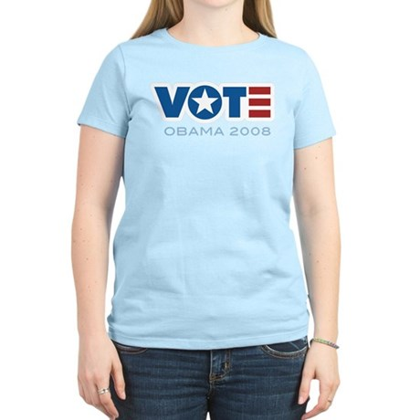 VOTE Obama 2008 Women's Light T-Shirt