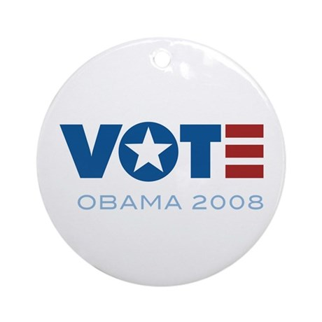 VOTE Obama 2008 Ornament (Round)