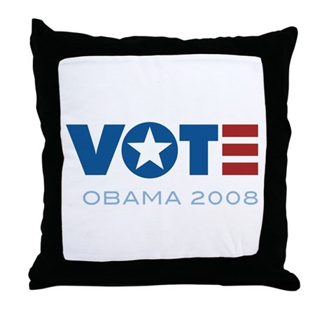 VOTE Obama 2008 Throw Pillow