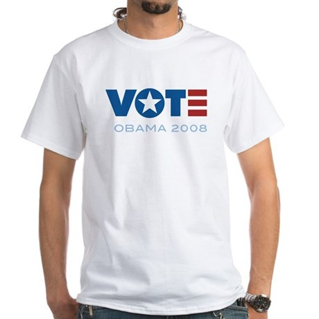 VOTE Obama 2008 White T-Shirt