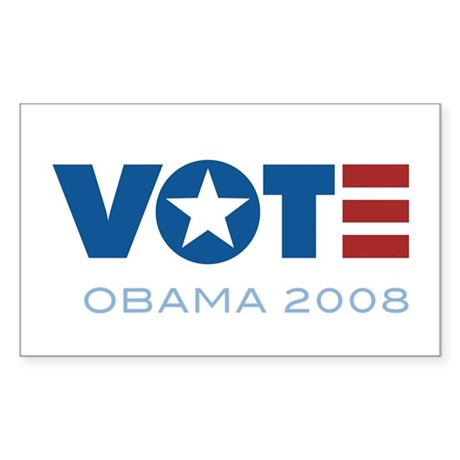 VOTE Obama 2008 Rectangle Sticker