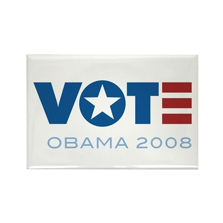 VOTE Obama 2008 Rectangle Magnet (10 pack)