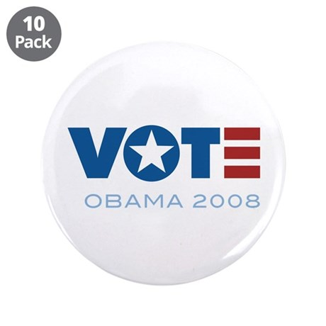 "VOTE Obama 2008 3.5"" Button (10 pack)"