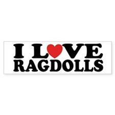 I Love Ragdoll Cats Bumper Car Sticker