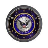 US Navy Retired Wall Clock