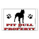 PIT BULL YARD SIGNS!! Rectangle Sticker 10 pk)
