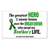 Hero I Never Knew 1 (Brother) Rectangle Decal