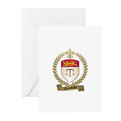 THIBODEAUX Family Crest Greeting Cards (Package of