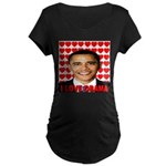 I Love Obama Maternity Dark T-Shirt