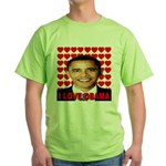I Love Obama Green T-Shirt