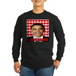 I Love Obama Long Sleeve Dark T-Shirt