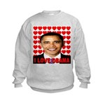 I Love Obama Kids Sweatshirt