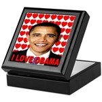 I Love Obama Keepsake Box