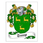 Troup Family Crest Small Poster