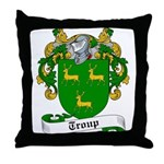 Troup Family Crest Throw Pillow