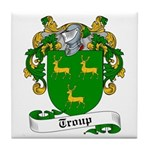 Troup Family Crest Tile Coaster