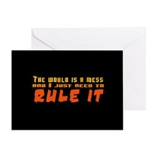 Rule World Greeting Card