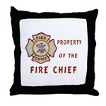 Fire Chief Property Throw Pillow