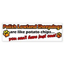 Potato Chip Polish Lowland Sheepdog Bumper Bumper Sticker