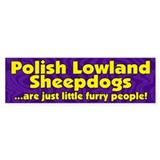 Furry Ppl Polish Lowland Sheepdog Bumper Bumper Sticker