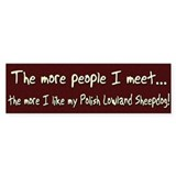 The More People Valee Sheepdog Bumper Bumper Sticker