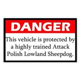 Attack Polish Lowland Sheepdog Decal