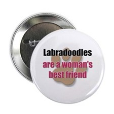 "Labradoodles woman's best friend 2.25"" Button"