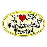 Hypno I Love My Patterdale Terrier Sticker Ylw
