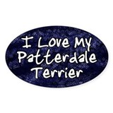 Funky Love Patterdale Terrier Oval Decal