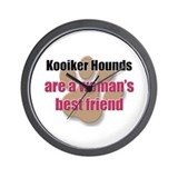 Kooiker Hounds woman's best friend Wall Clock
