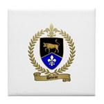 DEVEAU Family Crest Tile Coaster