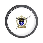 DEVEAU Family Crest Wall Clock