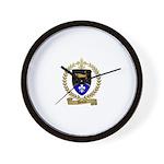 DEVEAU Family Crest Wall Clock