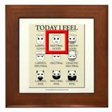 Today I Feel - Neutral Good Framed Tile