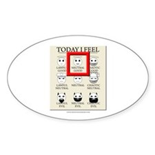Today I Feel - Neutral Good Oval Sticker (10 pk)