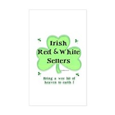 Red & White Heaven Rectangle Decal