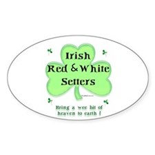 Red & White Heaven Oval Decal