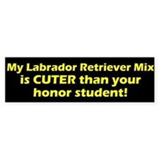 Cuter Labrador Retriever Mix Bumper Bumper Sticker