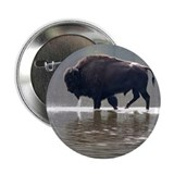 "Backlit Bison 2.25"" Button (100 pack)"