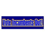Vote Incumbents Out Bumper Car Sticker