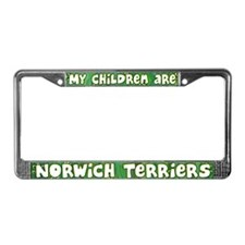 My Children Norwich Terrier License Plate Frame